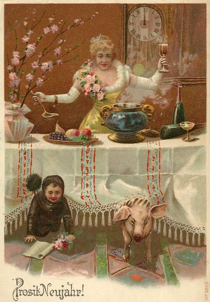 New Year greetings 1905 from Hamburg (Germany)