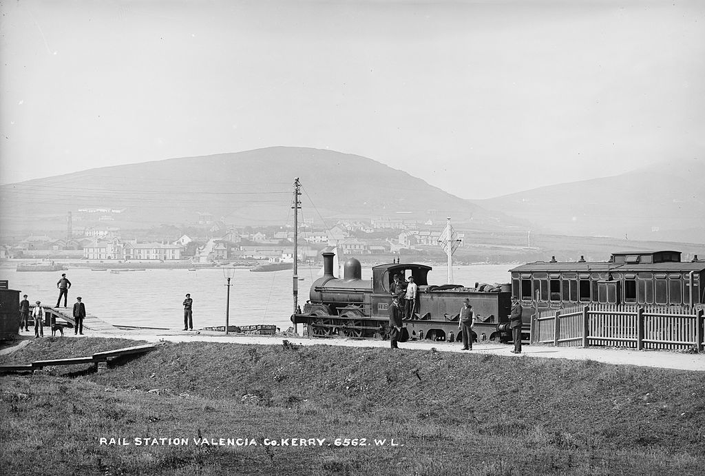Locomotive 107 at Valentia (Valencia) Harbour Station in Co. Kerry